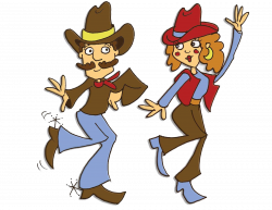 line dancing Clip Art | Country Line Dancing Clipart A Country Line ...