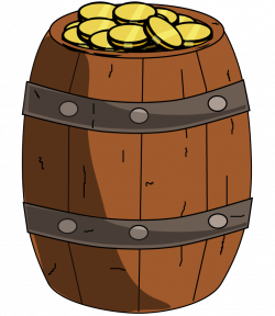 Free Wooden Barrel with Gold | Clipart Panda - Free Clipart Images
