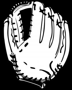 Baseball Glove 1 Black White | Clipart Panda - Free Clipart Images