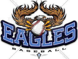 Eagles Baseball Clipart Vector Image - Sports Team Logo