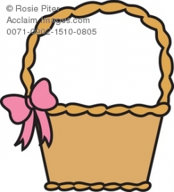 Clipart Illustration of an Easter Basket