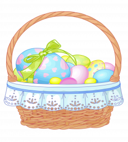 Easter Basket with Eggs Transparent Clipart | Gallery Yopriceville ...