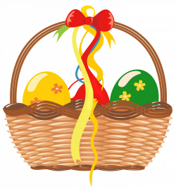Easter Basket with Eggs PNG Clipart Picture | Gallery Yopriceville ...