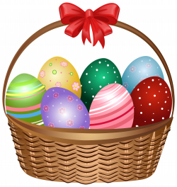 Easter Basket Clip Art Image | Gallery Yopriceville - High-Quality ...