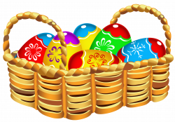Square Basket with Easter Eggs PNG Clipart | Gallery Yopriceville ...
