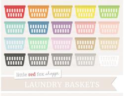 Laundry Basket Clipart ~ Illustrations ~ Creative Market