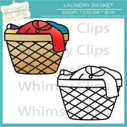 Laundry Basket Clip Art , Images & Illustrations | Whimsy Clips