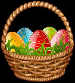 Easter Egg Basket PNG Clip Art Image   EASTER ♥   Pinterest ...