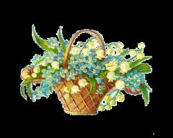 Antique Images: Easter Clip Art: Vintage Victorian Die Cut of Basket ...