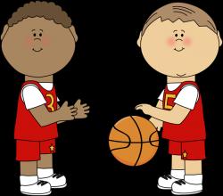 Boys Playing Basketball | Basketball Printables | Pinterest | Clip ...