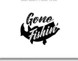 Gone Fishing Bait Graphic Fishing Clipart Cut Files Tuna