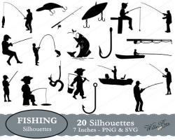 Fishing SVG Fish Clipart Fishing Image Fish Hook Fishing