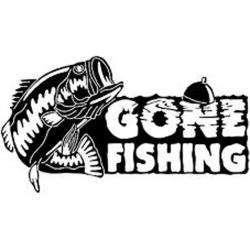 16CM*9CM Gone Fishing Bass Fish Car Boat Truck Vinyl Decal Sticker ...