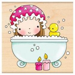 Girl Bath Time Clipart