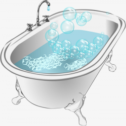 Bath And Water, Bathtub, Water, Blister PNG Image and Clipart for ...