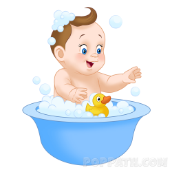 Amusing Bath Clipart Child Taking A 11 Station - cilpart