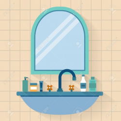 Bathroom Mirror Clipart - Bathroom furniture is now an significant ...