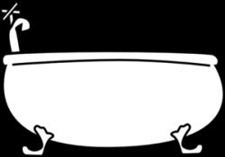 Bathtub Clip Art at Clker.com - vector clip art online, royalty free ...