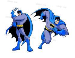 Batman cartoon digital clipart vector eps png files Clip Art