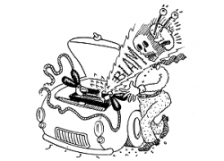 Car Battery Drawing at GetDrawings.com | Free for personal use Car ...