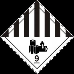 Clipart - ADR pictogram 9A -Lithium Ion Batteries