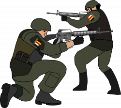 Clipart - Soldiers in battle