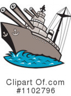 Battleship Clipart #1145715 - Illustration by patrimonio
