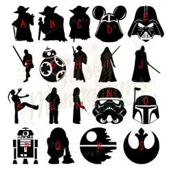 Star Wars Silhouette Vinyl Decal Sticker QUICK SHIP Yoda