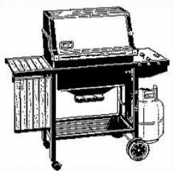 Free Gas Barbecue Grill Clipart