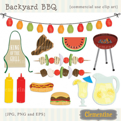 BBQ clip art images with vector picnic clip art barbecue