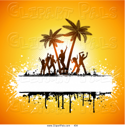Beach Party People Clipart