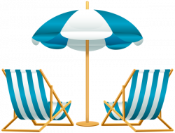 Beach Umbrella with Chairs Free PNG Clip Art Image | swimming pool ...