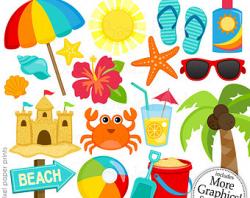 Clip Art Of Beach Stuff Clipart