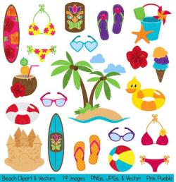 Beach Clipart Clip Art, Summer Vacation Travel Clipart Clip Art ...