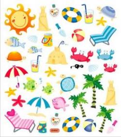 Summer Clipart, Summer Clip Art, Beach Clipart, Beach Clip Art ...
