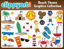 Beach Clipart, Beach Theme Clipart, Clipart Beach, Beach Graphics ...