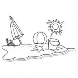 sandy-beach-clipart-black-and-white-3 - Rithymna Beach Aquila Hotels ...