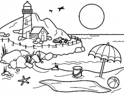 Beach Drawing Black And White at GetDrawings.com | Free for personal ...