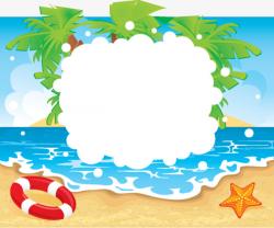 Beach Seaside Swimming Border, Seaside Beach, Sandy Beach, Swim PNG ...