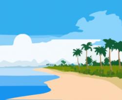 tropical beach clipart cartoon tropical beach vector 535494 - Clip ...