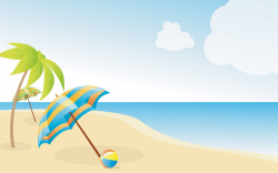 Summer Beach Wallpapers X | Free Images at Clker.com - vector clip ...