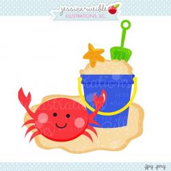 Beach Bucket Crab Clipart - JW Illustrations - Clip Art Library
