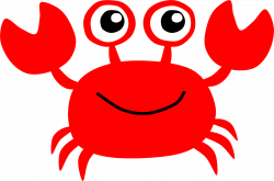 Clipart - Red Crab
