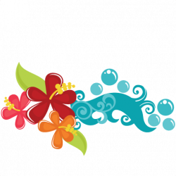 Tropical Flowers | Clipart | Pinterest | Svg file, Hawaii and Filing