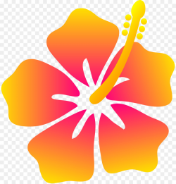 Hawaii Hibiscus Flower Clip art - Beach Flower Cliparts png download ...
