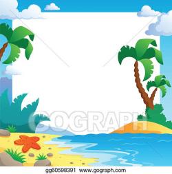 Vector Clipart - Beach theme frame 1. Vector Illustration gg60598391 ...