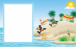 Mickey Mouse and Friends on the Beach Transparent Photo Frame ...
