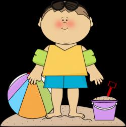 SUMMER LITTLE BOY ON THE BEACH CLIP ART | CLIP ART - SUMMER ...