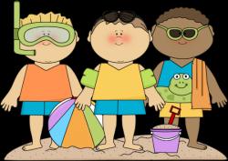Family Beach Day Clipart