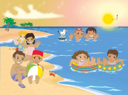 28+ Collection of Kids Swimming At Beach Clipart   High quality ...